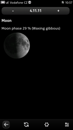 Moon information screen