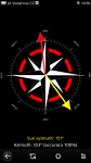 Compass showing sun azimuth